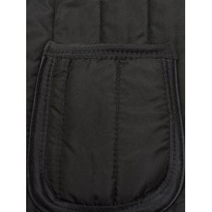 Poches bouton Up flocage rembourré gilet -