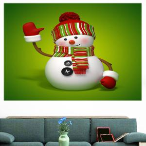 Christmas Snowman Patterned Multifunction Wall Art Painting -