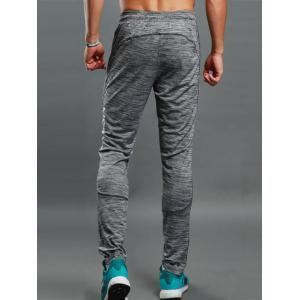Zip Pocket Straight Athletic Pants -