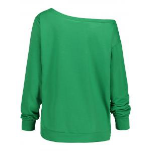 Merry Christmas Plus Size Skew Neck Sweatshirt -