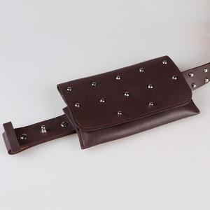 Vintage Mini Rivet Bag Decorated Faux Leather Belt -