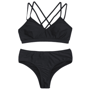 Strappy Criss-cross Bikini Set -