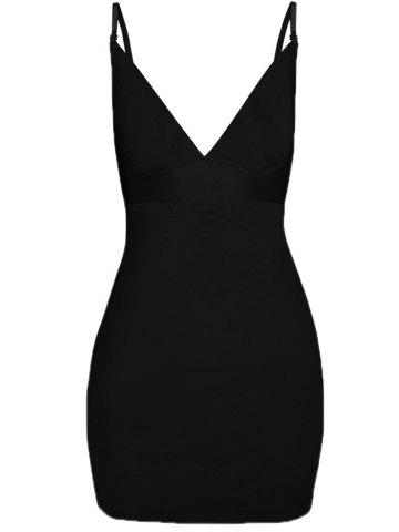 Outfits Plunge Convertible Strap Corset Dress BLACK S
