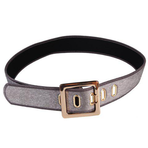 Shop Retro Metal Buckle Faux Suede Waist Belt