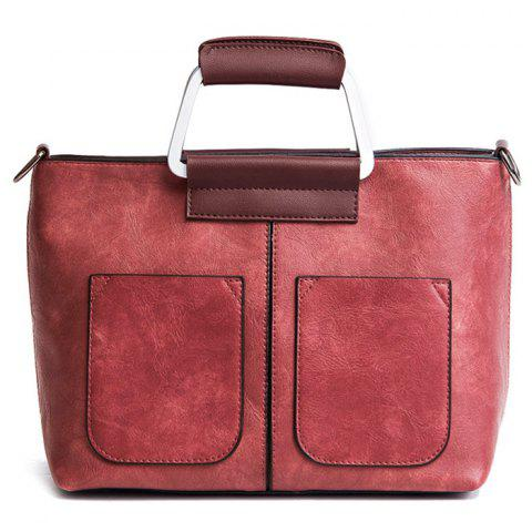 Best PU Leather Tote Bag RED