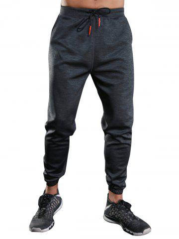 Fashion Drawstring Sports Jogger Pants GRAY M