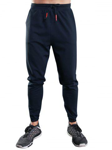 Discount Drawstring Sports Jogger Pants ROYAL XL