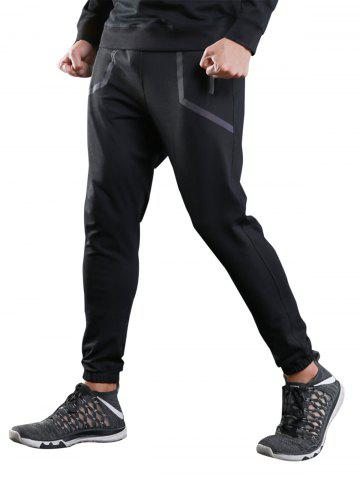Latest Contrast Trim Jogger Sports Athletic Pants - XL BLACK Mobile