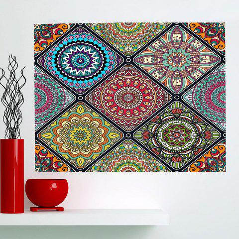 Affordable Multifunction Bohemian Geometries Flowers Pattern Wall Art Painting - 1PC:24*24 INCH( NO FRAME ) COLORFUL Mobile
