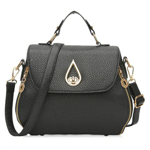 Sale Metal Embellished Faux Leather Handbag