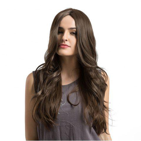 Shop Middle Part Long Layered Wavy Capless Synthetic Wig