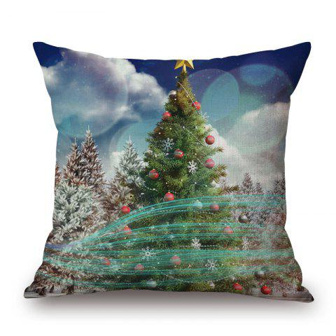 Affordable Christmas Tree Bubble Printed Pillow Case - 45*45CM COLORMIX Mobile