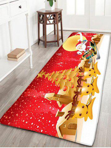 Hot Christmas Moon Santa Claus Deer Nonslip Bath Mat RED W24 INCH * L71 INCH