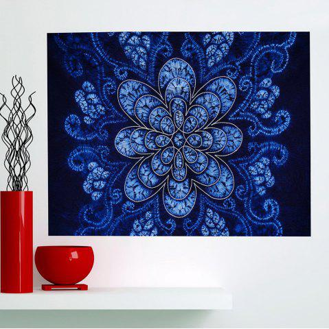 Cheap Bohemian Flower Print Multifunction Wall Art Painting - 1PC:24*24 INCH( NO FRAME ) BLUE Mobile