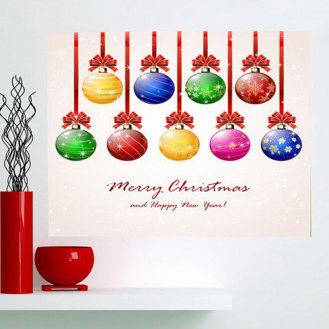 Hot Nine Christmas Colorful Balls Multifunction Wall Art Painting - 1PC:24*35 INCH( NO FRAME ) COLORFUL Mobile