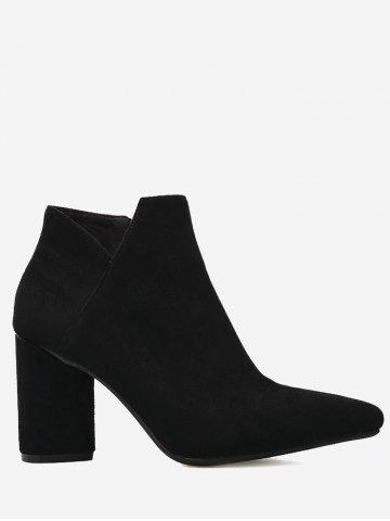 Unique Block Heel Pointed Toe Boots