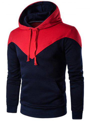 Latest Kangaroo Pocket Two Tone Hoodie