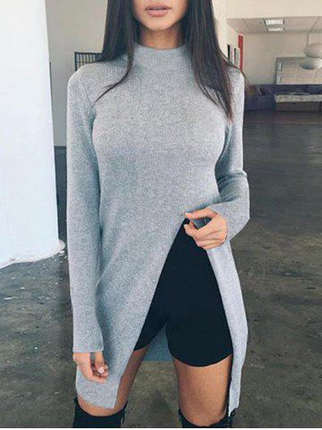 f738ff9f4e0d6 Long Slit Shirt - Free Shipping, Discount And Cheap Sale | Rosegal