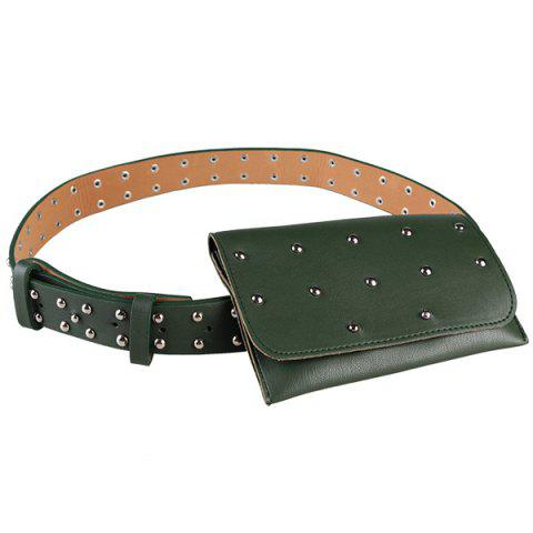 Shop Vintage Mini Rivet Bag Decorated Faux Leather Belt