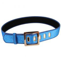 Retro Metal Buckle Faux Suede Waist Belt -