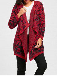Draped Open Front Skull Cardigan -