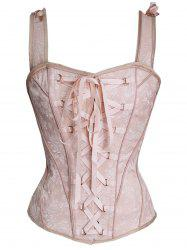 Steel Boned Lace Up Corset Vest -