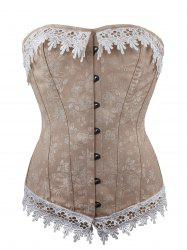 Jacquard Lace Up Waist Training Corset -
