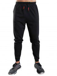 Drawstring Sports Jogger Pants - BLACK XL