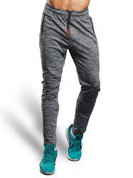 Zip Pocket Straight Athletic Pants - GRAY 2XL