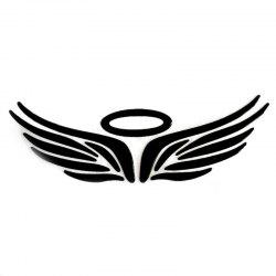 Wings Pattern Car Stickers - BLACK