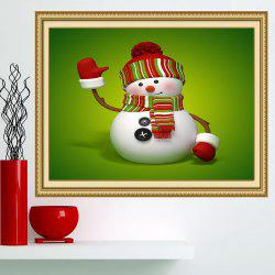 Christmas Snowman Patterned Multifunction Wall Art Painting - GREEN AND WHITE 1PC:24*35 INCH( NO FRAME )