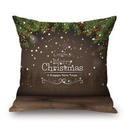 Merry Christmas Letter Print Decorative Pillowcase -
