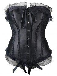 Lace Up Steel Boned Strapless Waist Training Corset -