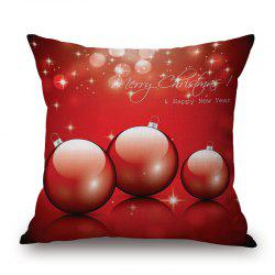 Christmas Ball Print Decorative Pillowcase -
