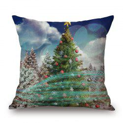Christmas Tree Bubble Printed Pillow Case -