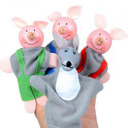 4 Pcs Baby Educational Finger Toys Animals Finger Puppets -