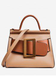 PU Leather Buckle Strap Tote Bag -