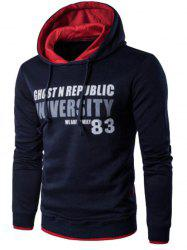 Pockets Graphic Printed Pullover Hoodie -
