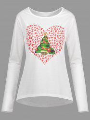 Christmas Tree Heart Plus Size High Low Tee -
