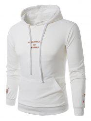 Graphic Embroidered Pocket Pullover Hoodie -