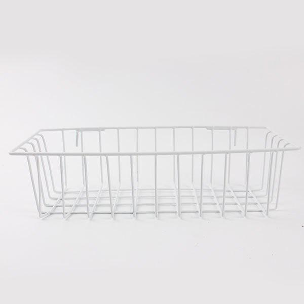 Household Portable Metal Wire Hanging Storage BasketHOME<br><br>Color: WHITE; Type: Storage Baskets; Feature: Open; Material: Metal; Size(CM): 13*30*8CM; Weight: 0.6240kg; Package Contents: 1 x Storage Basket;