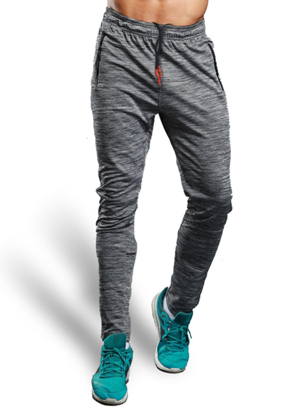 Outfits Zip Pocket Straight Athletic Pants