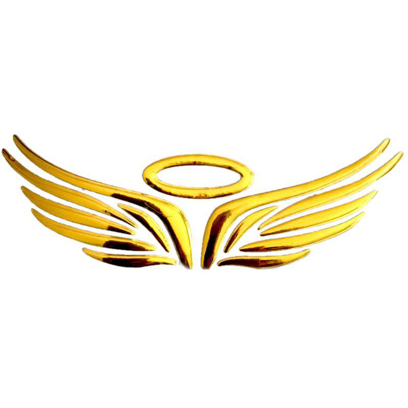 Wings Pattern Car StickersHOME<br><br>Color: YELLOW; Products Type: Car Decorations; Style: Trendy; Package Contents: 1 x Car Stickers;