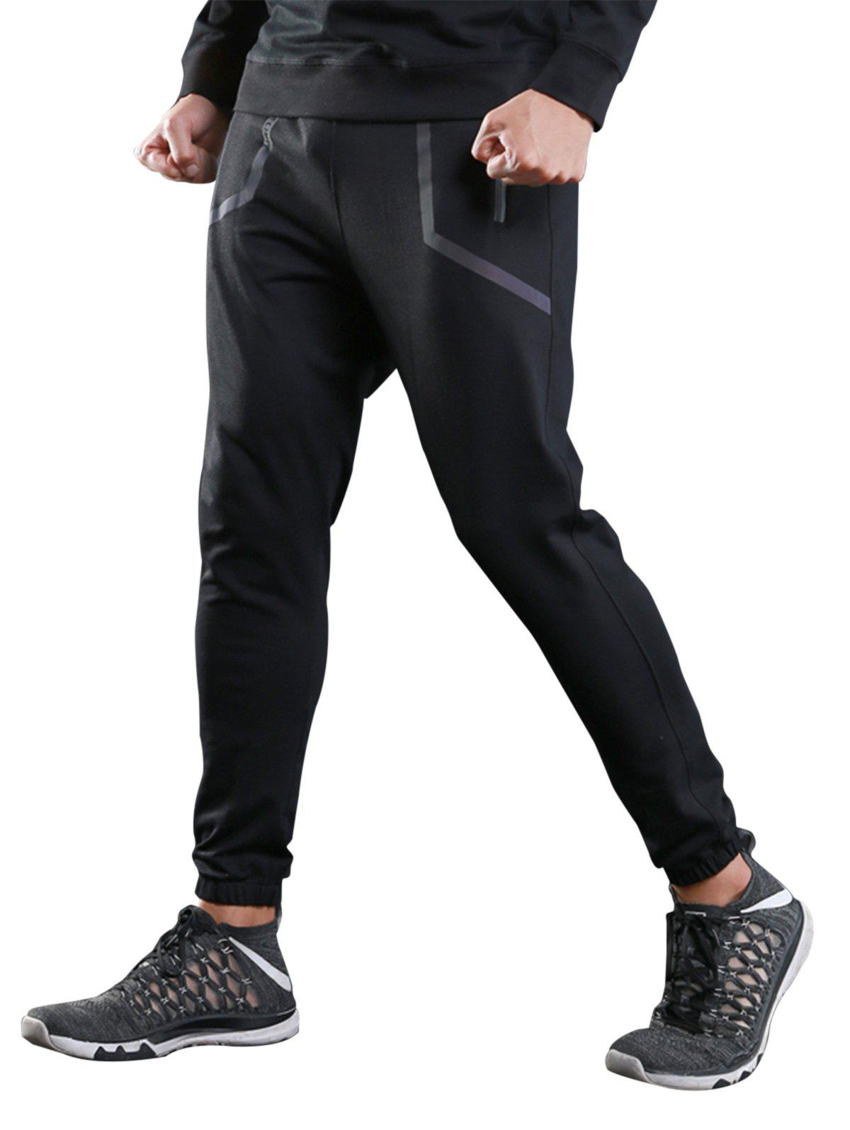 Hot Contrast Trim Jogger Sports Athletic Pants