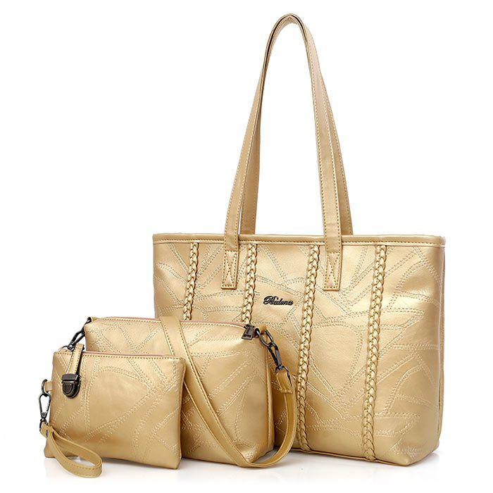 Outfits Braid 3 Pieces Quilted Handbag Set