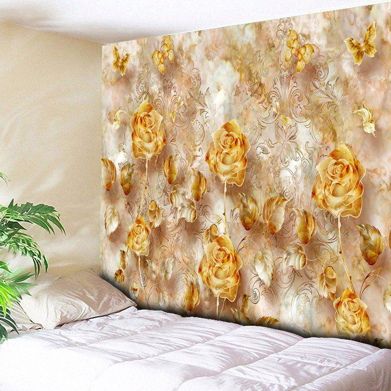 New Rose Print Wall Decor Flower Tapestry