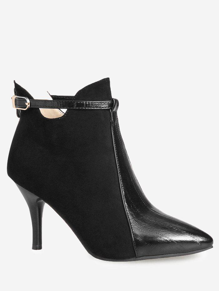 Buy Buckle Strap Pointed Toe Stiletto Heel Boots