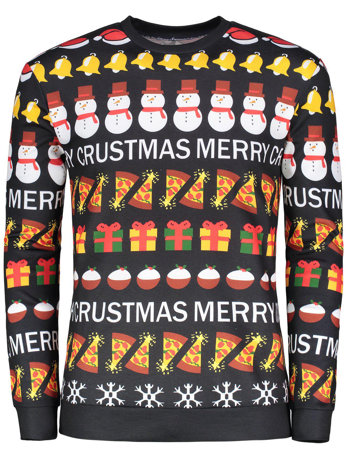 Long Sleeve Christmas Cartoon Graphic Printed T-shirtMEN<br><br>Size: L; Color: COLORMIX; Material: Polyester,Spandex; Sleeve Length: Full; Collar: Round Neck; Style: Fashion; Pattern Type: Snowman; Season: Fall,Spring; Weight: 0.3850kg; Package Contents: 1 x T-shirt;