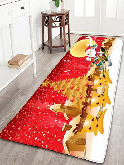 Hot Christmas Moon Santa Claus Deer Nonslip Bath Mat