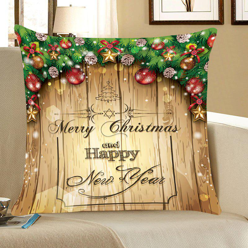 Merry Christmas Decorations Pattern Throw Pillow CaseHOME<br><br>Size: W18 INCH * L18 INCH; Color: COLORFUL; Material: Linen; Fabric Type: Linen; Pattern: Christmas Tree,Letter,Printed; Style: Festival; Weight: 0.0700kg; Package Contents: 1 x Pillow Case;